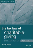 The Tax Law of Charitable Giving  2018 Cumulative Supplement