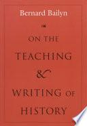 On The Teaching And Writing Of History