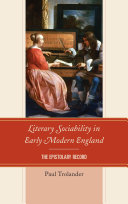 Pdf Literary Sociability in Early Modern England Telecharger
