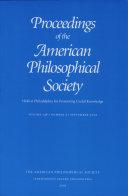 Proceedings, American Philosophical Society (vol. 146, no. 3, 2002) Pdf