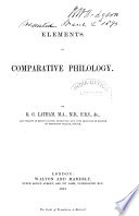 Elements of Comparative Philology
