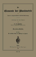 Cover image of Die Elemente der Planimetrie in ihrer organischen Entwickelung : Lehrbuch für jede Schule