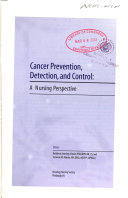 Cancer Prevention  Detection  and Control Book