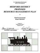 Medford District Area Resource s  Management Plan  RMP