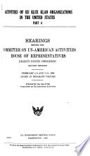 Hearings  Reports and Prints of the House Committee on Un American Activities Book PDF