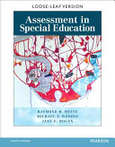 Assessment in Special Education with Access Code