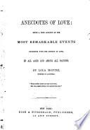 Anecdotes of Love