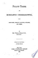 Pulpit Trees and Homiletic Undergrowth Book