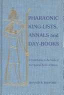 Pharaonic king-lists, annals, and day-books