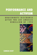 Performance and Activism