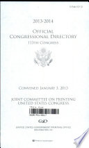 Official Congressional Directory 113th Congress, 2013-2014
