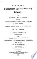 General Index To The First And Second Series Of Hansard S Parliamentary Debates