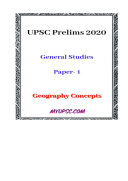 UPSC Prelims 2020  Basic Geography Concepts