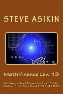 Math Finance Law 13
