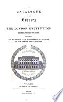 A Catalogue of the Library of the London Institution  The tracts and pamphlets  A Fyson