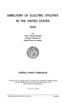 Directory of Electric Utilities in the United States  1941