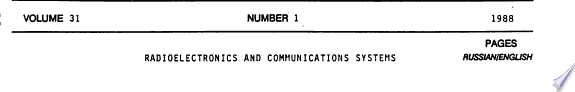Radio electronics and communications systems
