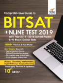 Comprehensive Guide to BITSAT Online Test 2019 with Past 2014 2018 Solved Papers   90 Mock Online Tests 10th edition