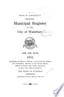 Municipal Register of the City of Waterbury Book
