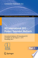 HCI International 2015   Posters    Extended Abstracts