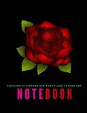 Rockabilly Vintage Red Rose Flash Tattoo Art Notebook