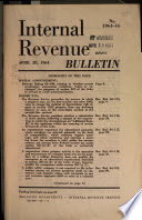 Internal Revenue Bulletin Book