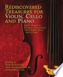 Rediscovered Treasures For Violin Cello And Piano