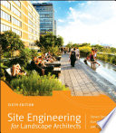 Site Engineering for Landscape Architects Book