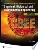 Chemical  Biological and Environmental Engineering   Proceedings of the International Conference on Cbee 2009