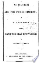 An Inquiry: are the Wicked Immortal?