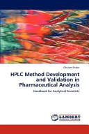 HPLC Method Development and Validation in Pharmaceutical Analysis Book
