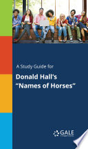 A Study Guide for Donald Hall's