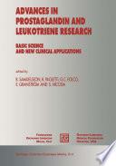 Advances In Prostaglandin And Leukotriene Research Book PDF