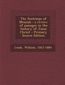 The Footsteps of Messiah Book