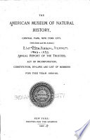 Annual Report Of The Trustees Constitution By Laws And List Of Members For The Year