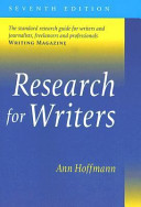 Research for Writers