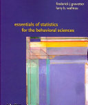 Essentials of Statistics for the Behavioral Science Book