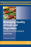 Managing Quality Of Fruit And Vegetables Book PDF