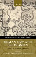 Roman Law and Economics Book