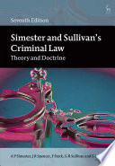 Simester and Sullivan's Criminal Law