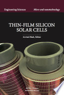 Thin Film Silicon Solar Cells