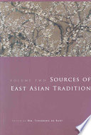 Sources of East Asian Tradition  The modern period