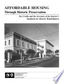 Affordable Housing Through Historic Preservation Book PDF