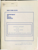 Statistical Supplement To The Annual Report Of The New York State Department Of Social Services