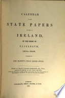Calendar of the State Papers Relating to Ireland  of the Reigns of Henry VIII   Edward VI   Mary  and Elisabeth Book PDF