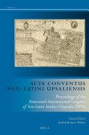 Acta Conventus Neo-Latini Upsaliensis