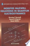 Modified Maxwell Equations In Quantum Electrodynamics