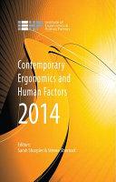 Contemporary Ergonomics and Human Factors 2014