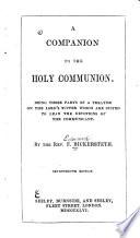 A Companion To The Holy Communion