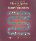 Fundamentals of Differential Equations and Boundary Value Problems Book